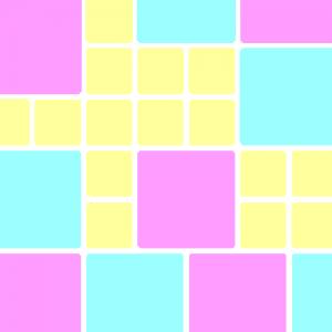 groß-flächiges Muster, zarte Farben, bunt, mit Weiß