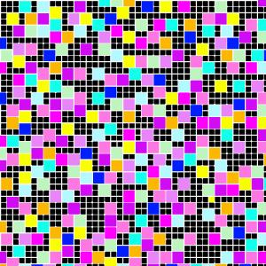 klein-flächiges Muster, bunt